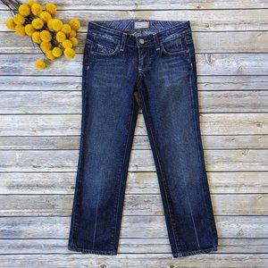 Paige Laurel Canyon Dark Wash Cropped Jeans